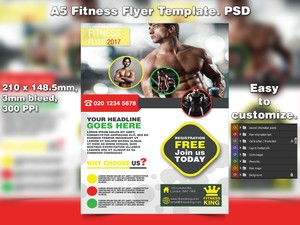 Fitness Flyer Template (PSD)