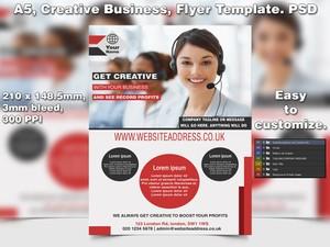 Get Creative Business Flyer Template (A5 PSD)