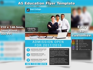 Education Flyer Template (A5 PSD)