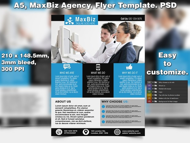 Maxbiz business flyer template a5 psd studio81 maxbiz business flyer template a5 psd flashek Images