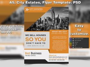 City Estates Flyer Template (A5 PSD)