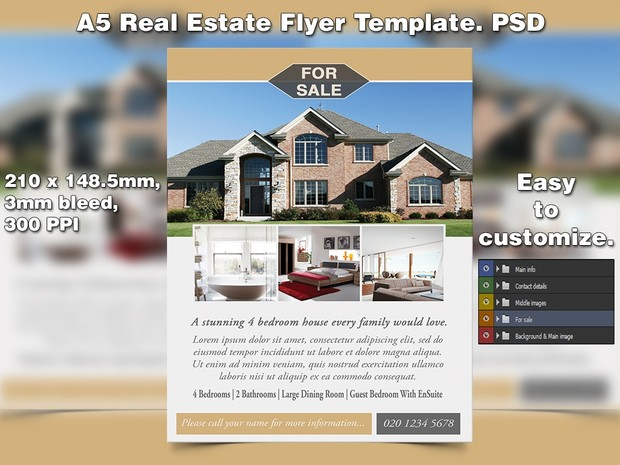 Real Estate Flyer Template (PSD) - studio81