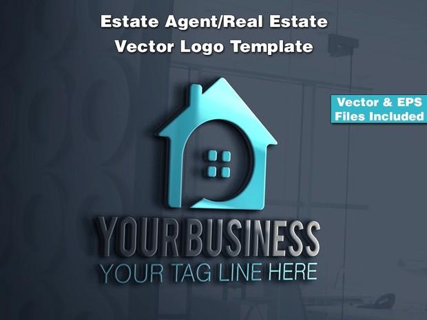 Estate Agent/Real Estate Vector Logo Template 3