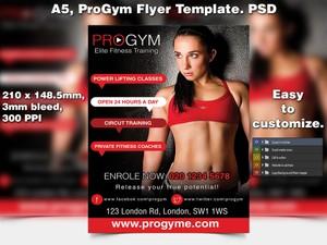 ProGym Fitness Flyer Template (A5 PSD)