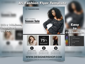 Fashion Flyer Template (A5 PSD)