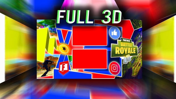 3D - FortNite Outro Template - PSD