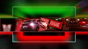 Free NFS / Need For Speed Payback Banner Template - PSD