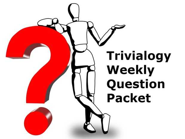 Trivialogy Question Packet for April 16, 2018