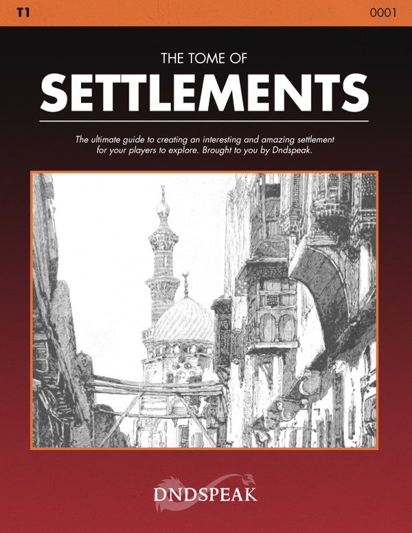 T1: The Tome of Settlements - PDF