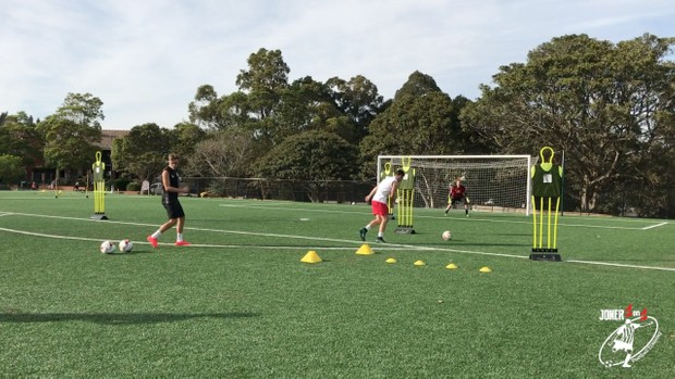 Advanced shooting drill with a lot of detail and coaching points.