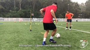Full training session with a talented young player