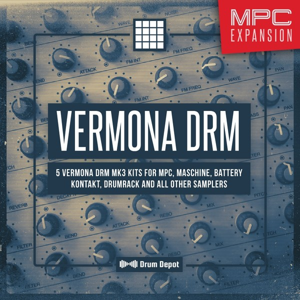 Vermona DRM – MPC Expansion [5 drum kits & 50 free loops]