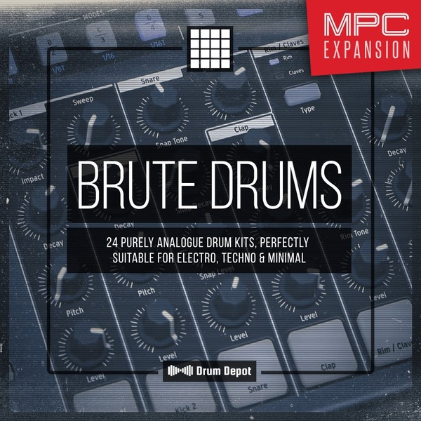 Brute Drums – MPC Expansion [24 purely analogue drum kits]