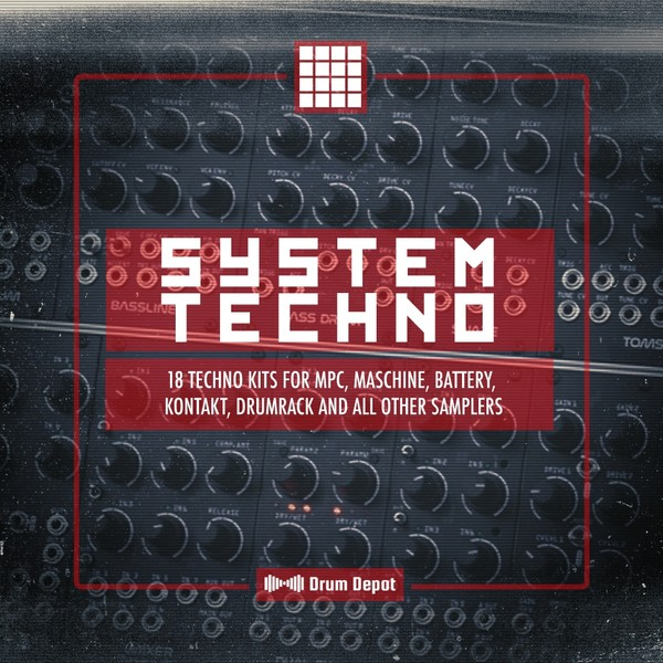System Techno [18 raw drum kits]