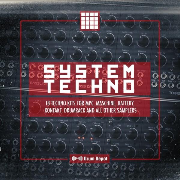 System Techno [18 raw drum kits]