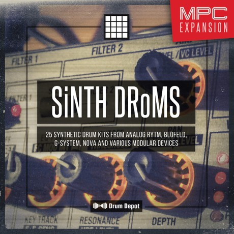 SiNTH DRoMS – MPC Expansion [25 synth & modular drum kits]