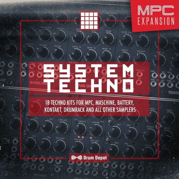 System Techno – MPC Expansion [18 raw drum kits]