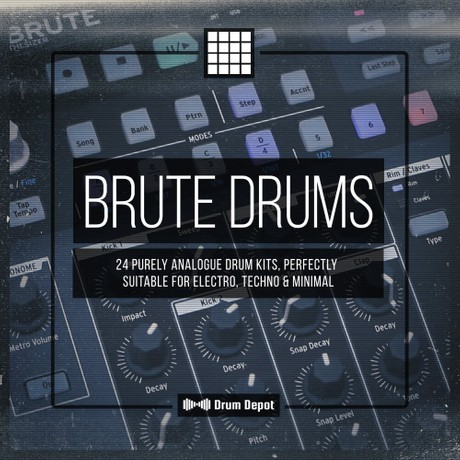 Brute Drums [24 purely analogue drum kits]