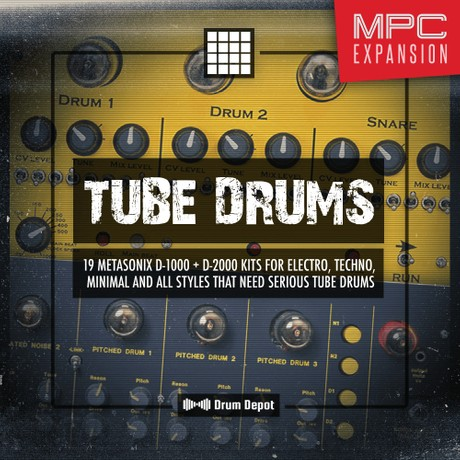 Tube Drums – MPC Expansion [19 Metasonix D-1000 & D-2000 drum kits]