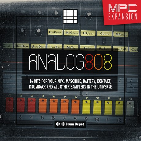 Analog 808 – MPC Expansion [16 brutalized 808 drum kits]
