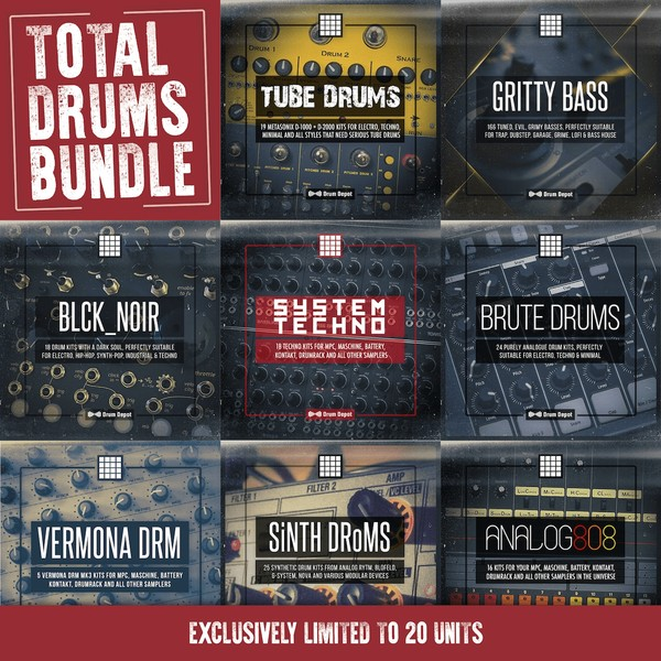 Limited Edition: Total Drums Bundle [5 GB of drums for your sampler]