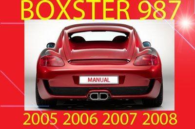 ►►► PORSCHE BOXSTER 987 2005 2006 2007 2008 WORKSHOP SERVICE REPAIR SHOP FACTORY MANUAL PDF DOWNLOAD