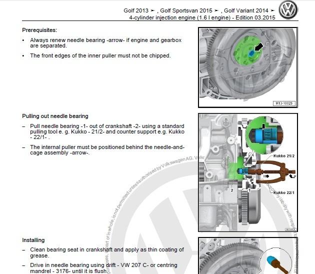 2012 vw golf tdi service manual