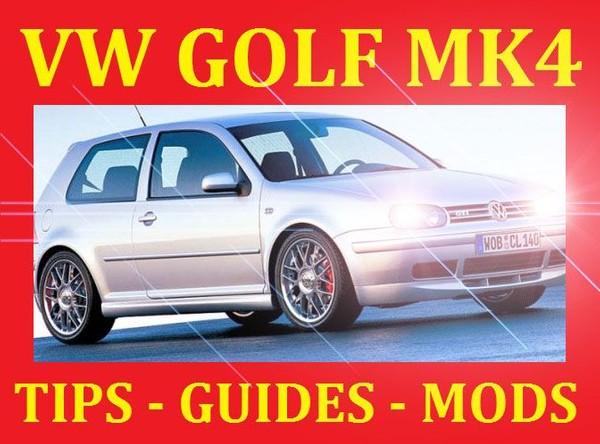 ►► DEDICATED VW GOLF MK4 1.8 1.9 2.0 2.8 GTI TURBO TDI GT TDI VR6 MODIFICATION GUIDES TIPS MANUAL