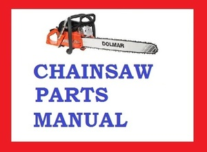 DOLMAR CHAINSAW 103 105 108 SPARE PARTS LIST MANUAL PDF DOWNLOAD