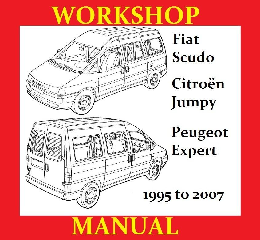 Fiat Scudo Peugeot Expert Citroen Jumpy Workshop Servi
