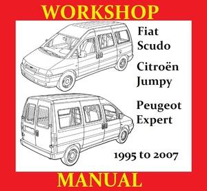 FIAT SCUDO PEUGEOT EXPERT CITROEN JUMPY WORKSHOP SERVICE REPAIR SHOP MANUAL WIRING PDF DOWNLOAD