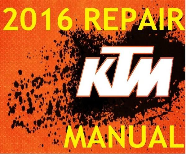 ► 2016 ◄ KTM 125 200 EXC 200 XC-W WORKSHOP SERVICE REPAIR MANUAL PDF DOWNLOAD