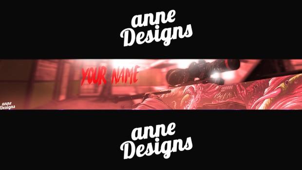 CS:GO Banner Template -AnneDesigns (EDIT) Photoshop CS