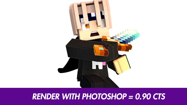 RENDER MINECRAFT C4D WITH PHOTOSHOP