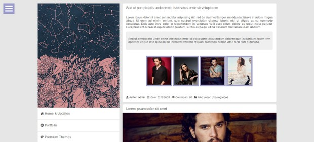 Constellation | Wordpress theme