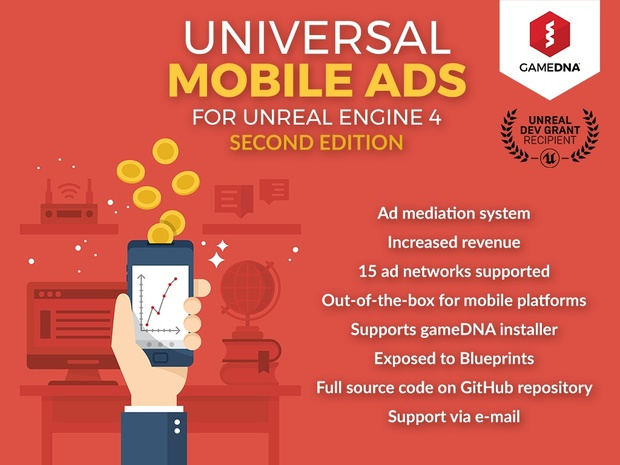 Universal Mobile Ads Plugin for UE4