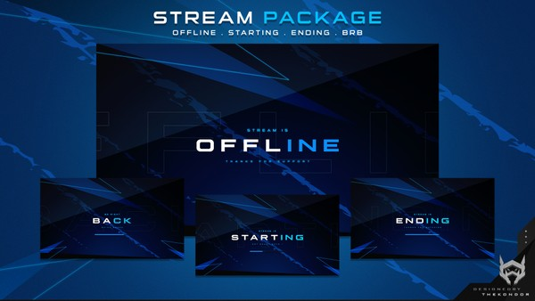 Twitch Pack ( offline . starting . pause . ending )