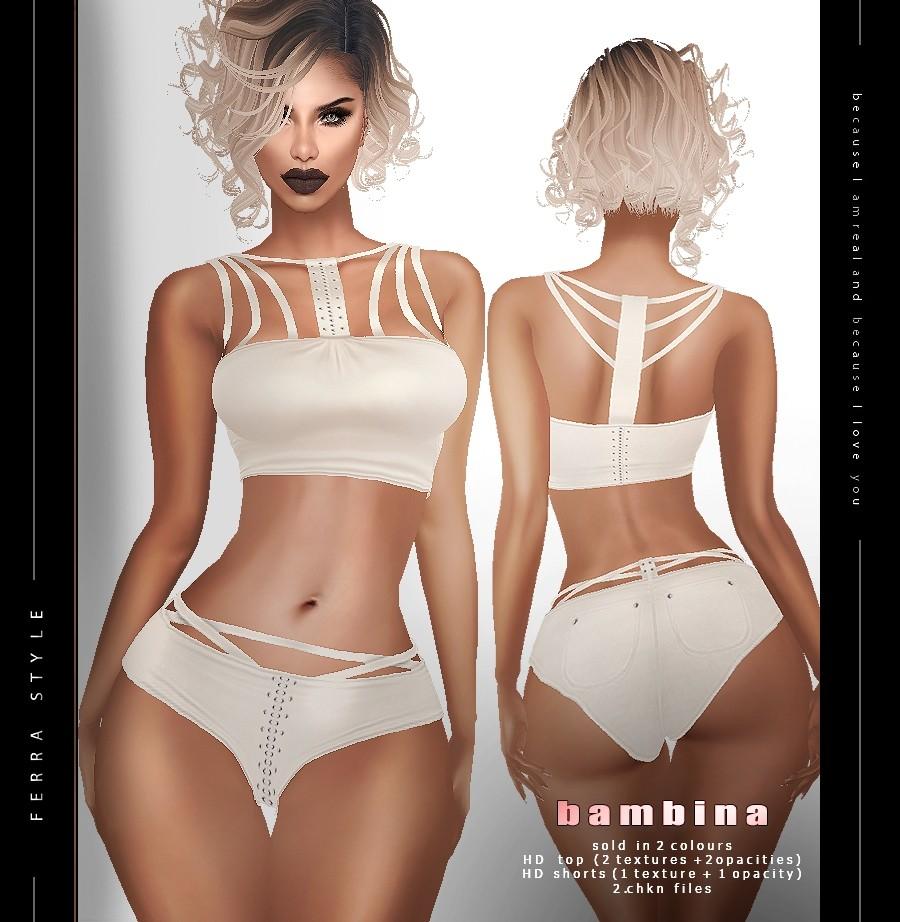 :: BAMBINA TOP & SHORTS ::
