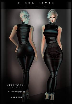 :: VIRTUOZA LEATHER PANTS ::