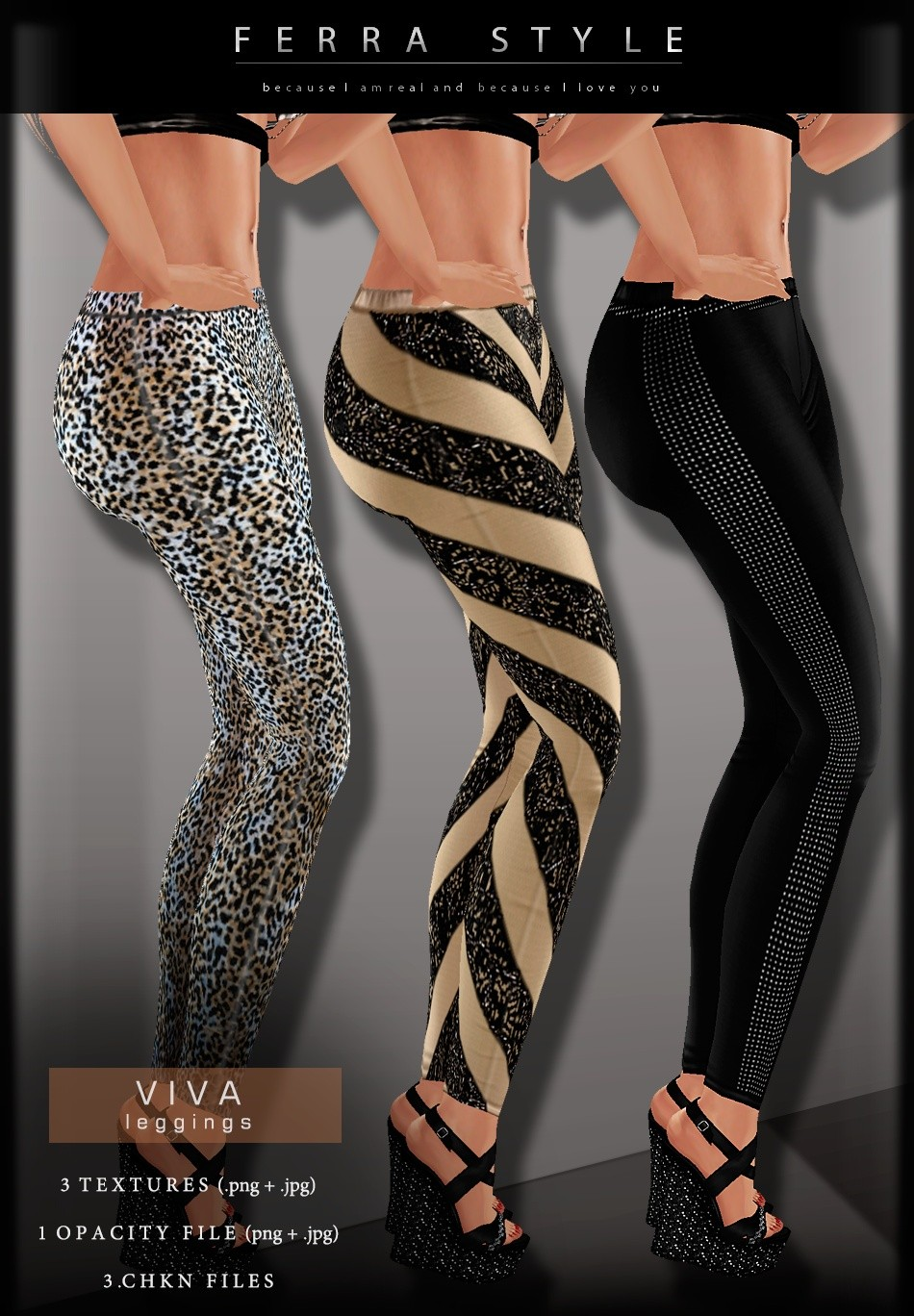 ::  VIVA LEGGINGS (3 ITEMS)  ::
