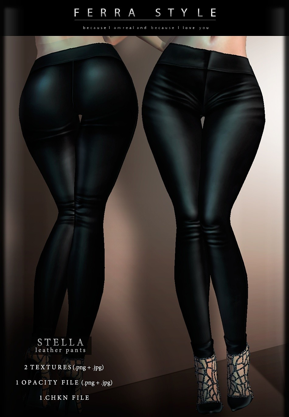 :: STELLA LEATHER PANTS ::