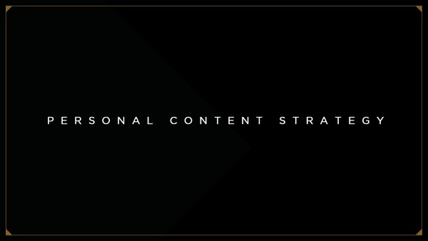 Personal Content Strategy