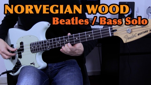 The Beatles - Norwegian Wood - Bass Solo