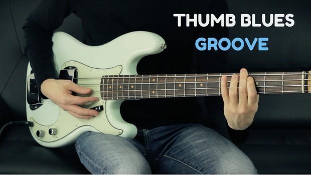 Thumb Blues Bass Groove - TAB + MP3