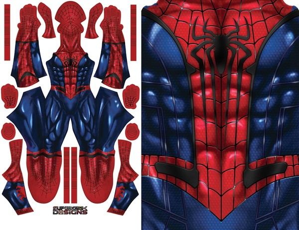 SPIDERMAN DREAM SUIT (TASM2 emblem) pattern file