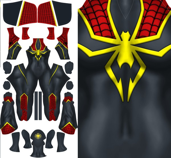 FEMALE HOODED SPIDER-MAN CONCEPT pattern file