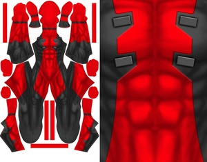 COMIC DEADPOOL (no textures) pattern file