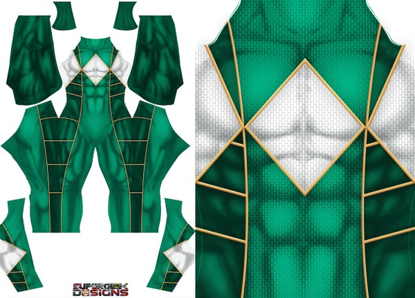 GREEN RANGER (Bat in the sun style) pattern file **UPDATED**