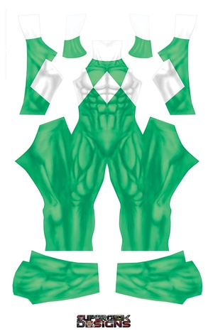 GREEN POWER RANGER (PLAIN) pattern file