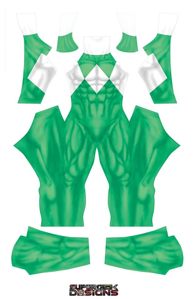 GREEN POWER RANGER (PLAIN) pattern file